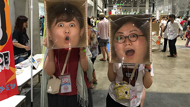As I didn't take photos of other families, here's a photo of people I know.  Both of them look like entertainers all of a sudden (Otome Dengei Club)