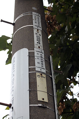 電柱でも電信柱でも大体30m間隔です。電柱と電信柱の違いはこちらの記事</a>で。