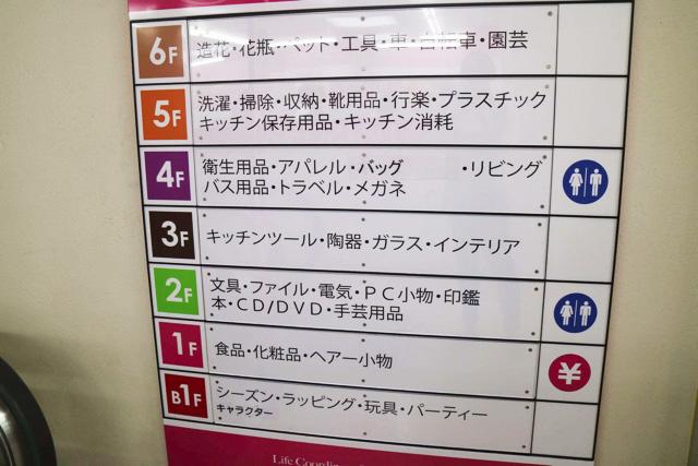 1階から7階まですべてがダイソー。信じられないくらい広い。
