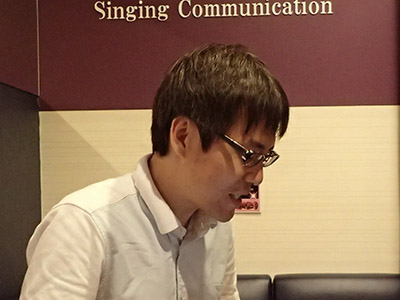 石川大樹さん。「歌は嫌いではなく普通です。」