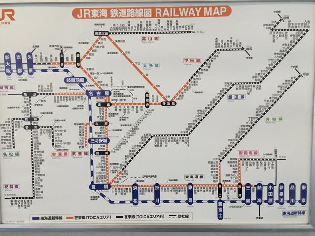 JR東海鉄道路線図・投稿:めろんぬ