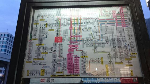 西鉄バス路線図・投稿:KASHII@西鉄バス路線図