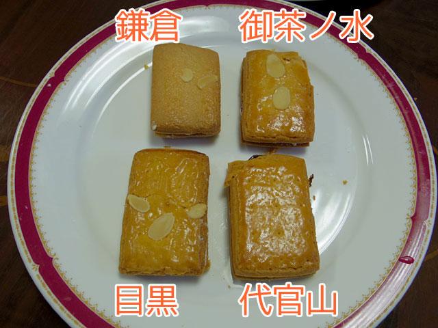 左上から時計回りに、「鎌倉」「御茶ノ水」「代官山」「目黒」。