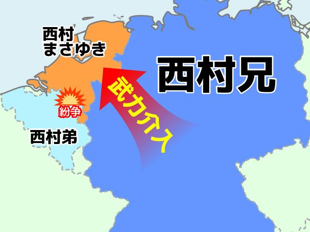 境界好きの西村さんだから、とりあえず境界線を活かした相関図にしてみた。しっくりくる。