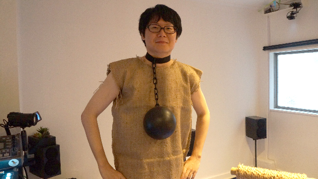 ちなみにこの鉄球のようなものは、ただのおしゃれだそうだ