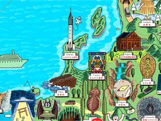 今回行った「コスモアイル」をはじめ、全国のワンダー過ぎるスポットが紹介されているマップですよ!