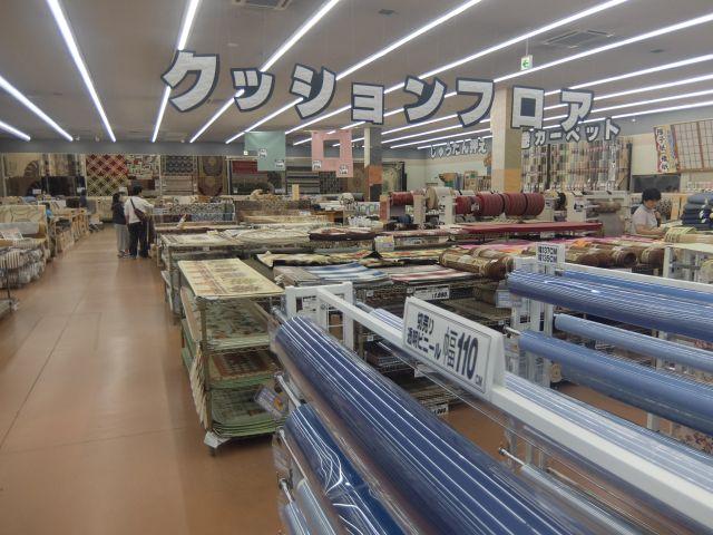 クッションだけでこれだけでかい。 角材売り場とか工具売り場とかひたすらでかい。