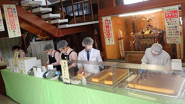 焼きたて、切りたての窯だしカステラを求めて、文明堂東京の工場まで行ってきました。