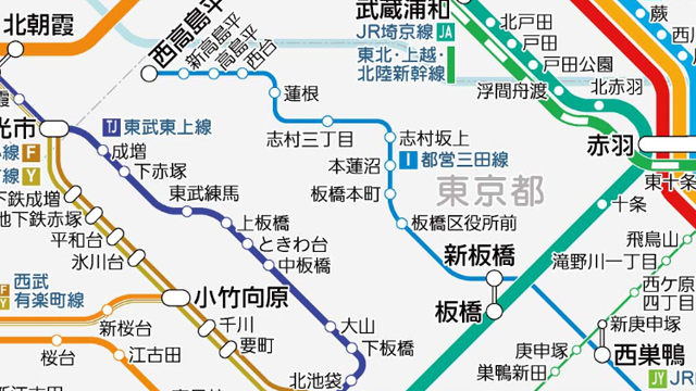 実際の形に近づいた三田線