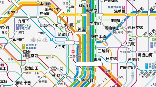 皇居はないけれど、隅田川はかいてある