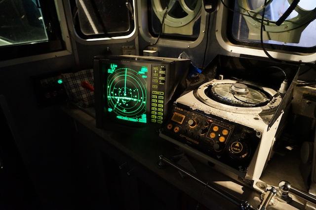 かっこいい操舵室。