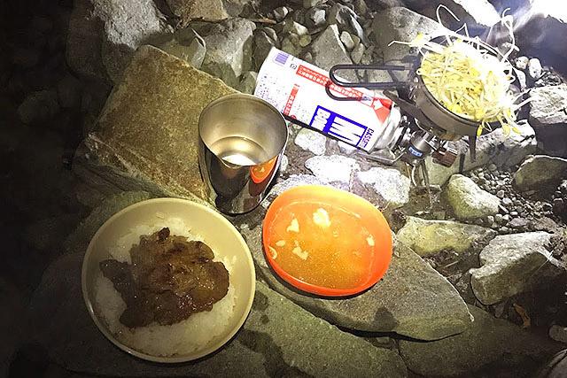 テントを軽くした分、食料を持ってきた。