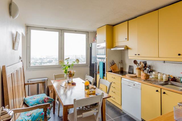 そのキッチンもたいへん居心地が良い。全天球画像は→こちら