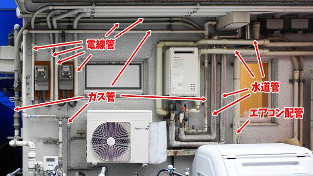 雨どいの配管の継ぎ手を組み合わせたフォルムはトリッキーなものほどかっこいい。飲食店の外によく見られる風導管は確かに潜望鏡みたい。潜水艦につけてみたいですね。