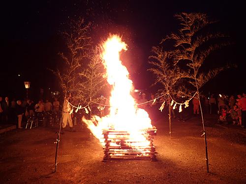 炎が龍になって天へと昇っていくような燃えっぷりだ。