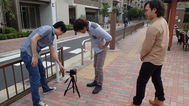 左からDPZ編集部藤原、安藤、ニフティの新人山口さん