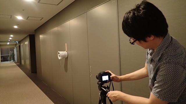 奥行きが映える視点にカメラをセット
