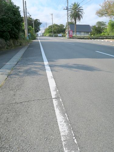 キツくて長い坂。ビー玉置いたら時速100キロを超えて加速するんじゃないだろうか