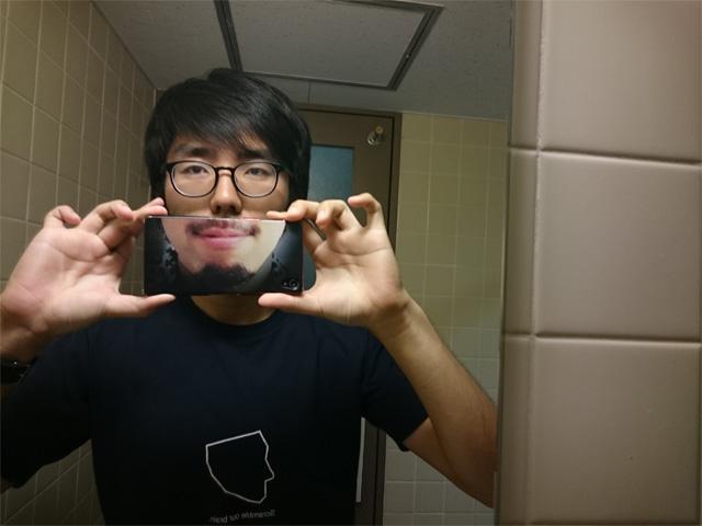 作ったあとすぐにトイレの鏡で