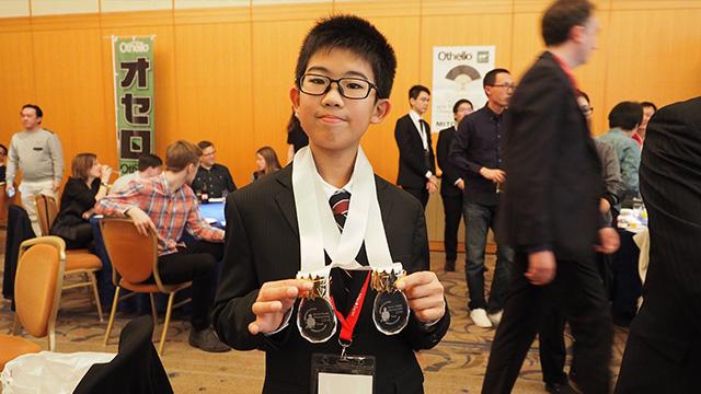 ユースの部(15才以下)では和田君が勝利。この日偶然12才の誕生日だったそうだ。最高の日だな。