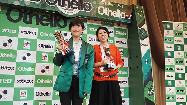 女子の部では1位中国のチェンさん(左)、2位に木下央子 五段(右)
