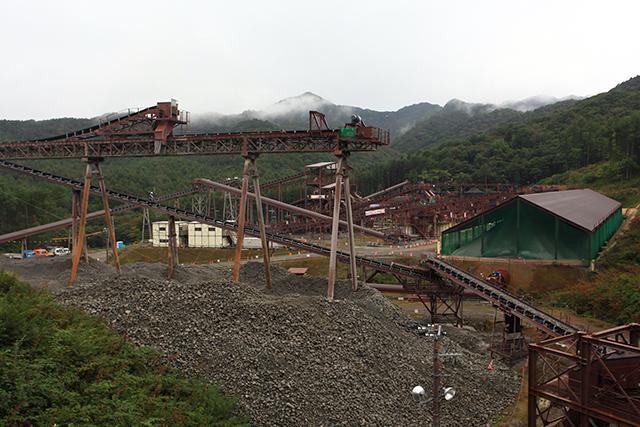 八ッ場ダムの骨材製造プラント