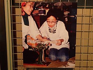 水車館にあった味わい深い写真。家庭用製麺機の使用は昭和30年代くらいまでだそうです。