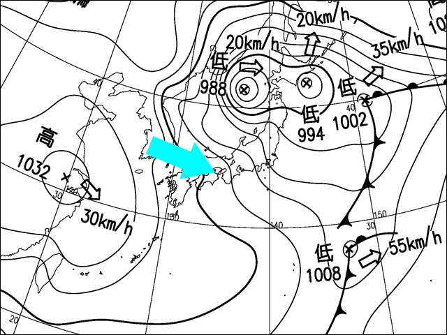 2015年11月27日。気象庁天気図。