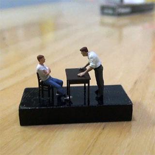 「はかないと別の刑事よんでくるぞ」 「やれるもんならやってみろ」