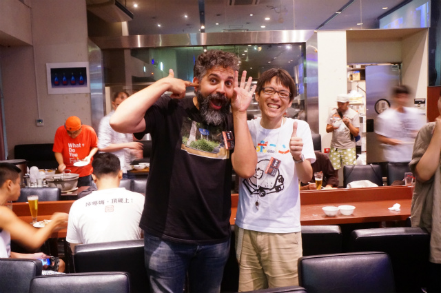 Co-founder of Arduino, Mr. David Cuartielles, he was very friendly person but actually is a high profile person among Makers. (We invited him together with Maker Faire Tokyo.)