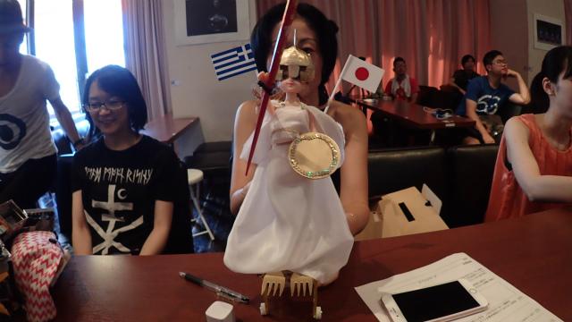 Goddess Athena (Greece & Japan: Hebocon Athens & greecejapan.com)