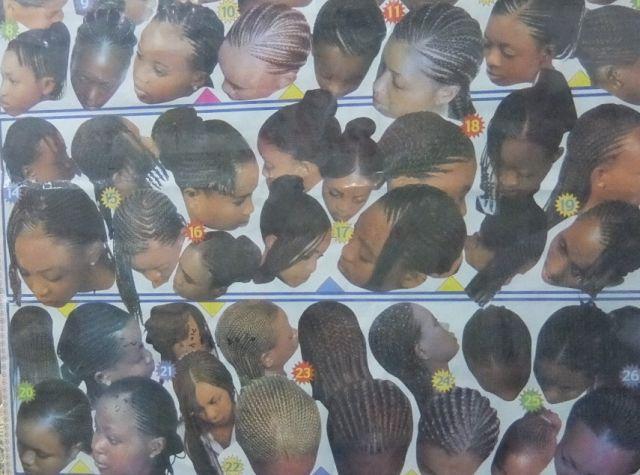 アフリカンタウンの美容室の写真も異国情緒いっぱい