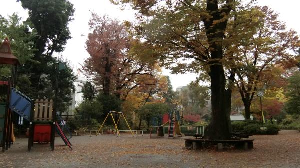 普通の公園に見えるが奥に進むと、
