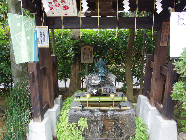 高木神社の手水舎