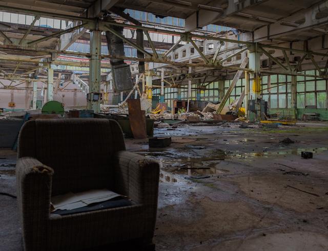チェルノブイリ原発から3km強の無人の都市。そこにあった工場廃虚。ついうっとり。