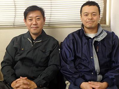 左が藤居さん。右が村田さん。今日はよろしくお願いします。