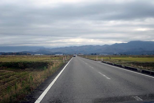 ほとんどの行程でこういう田んぼの中の道を進む