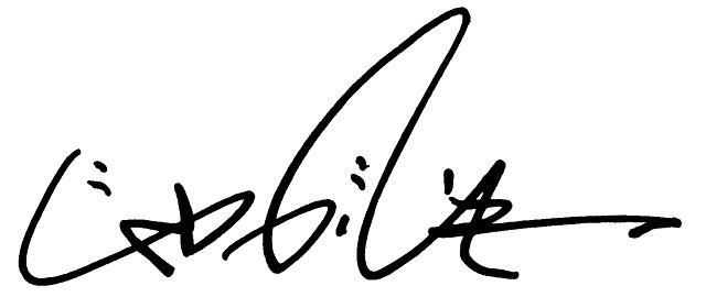 サインを考えるプロに教わります。名前以外に添付画像の「じゃがいも」のほか、「便秘」等のサインも考えてもらいました。便秘って。