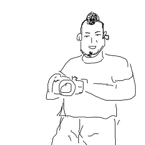 被写体のアゴのたるみに厳しい素敵なカメラマン。もう一名のカメラマンは岩城滉一風だったとか。