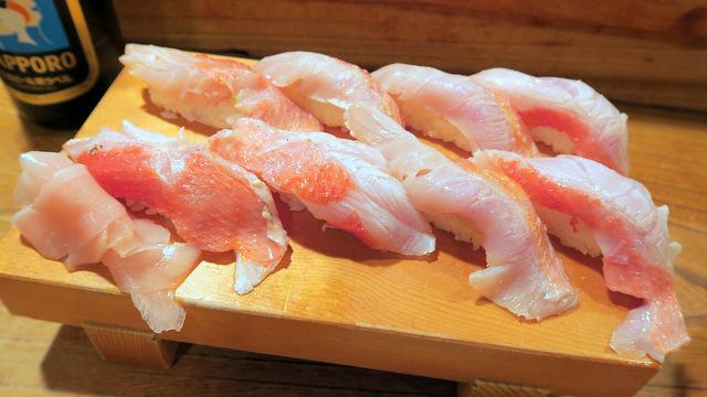 あぶった金目鯛の寿司8カン