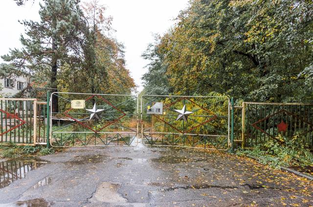 敷地の入口のゲートはこんな。