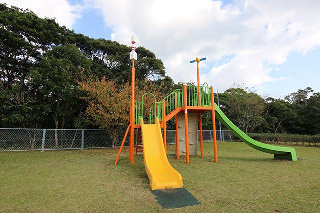 公園内の遊具はロケットと人工衛星とすべり台。フェスかどうか判断しかねるが、でもたぶんフェス。