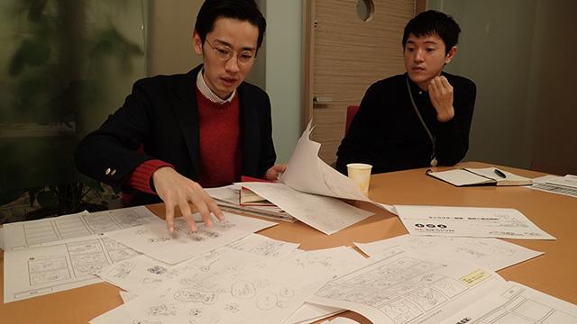 トランス・コスモス岡本さんとライフネット生命森根さん。