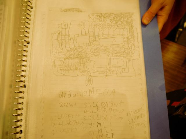 回路の設計図。線の密度がすごい。