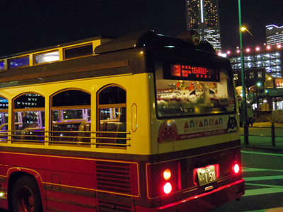 イルミネーションバスは外からだと後ろがわかりやすいかな(ふわふわ)