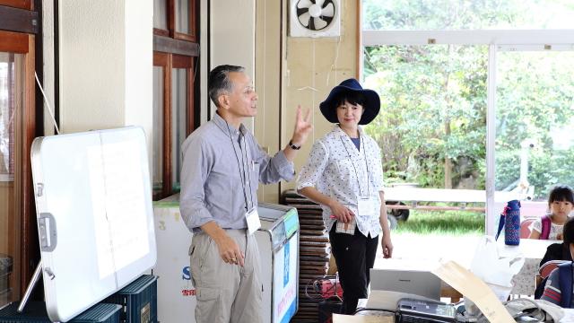 琵琶湖について教えてくれるのは、滋賀県立大の先生。
