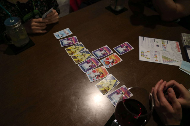 ペンギンの絵が可愛いカードゲーム。