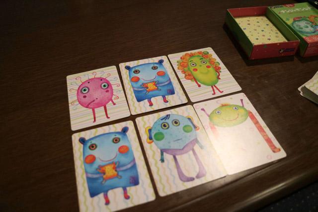 独特なかわいい絵が描かれたカードゲーム。