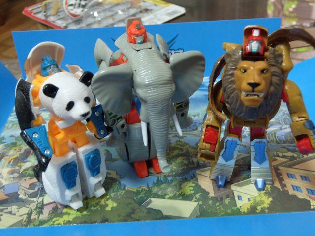 動物がチャームポイントの「機戦奇兵(パッケージより)」3戦士
