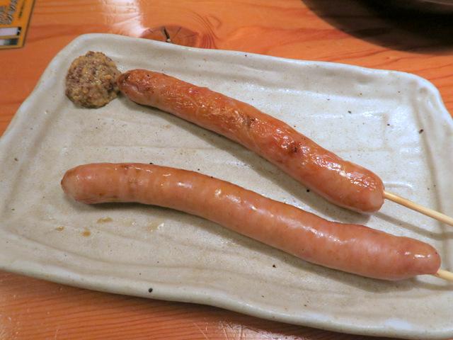 チキンソーセージ串焼き